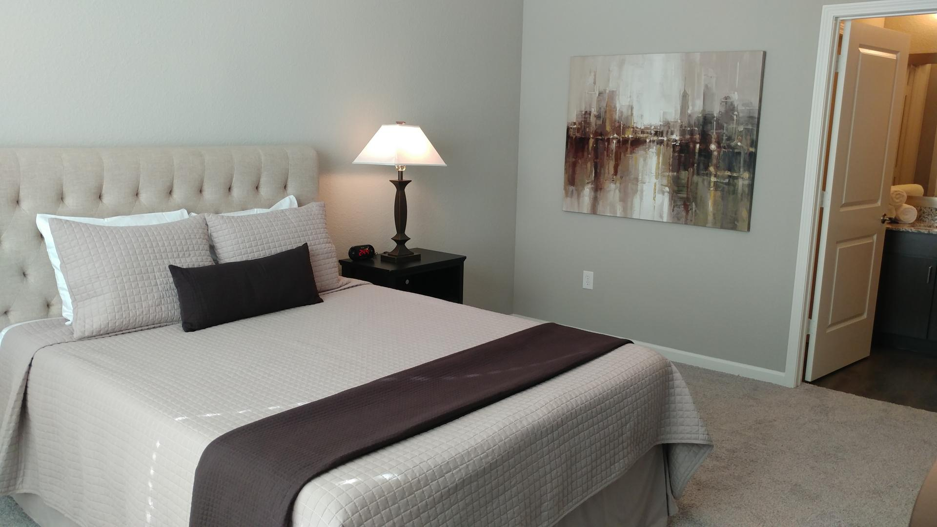 Bedroom at Watermark at Chesterfield Village Apartments