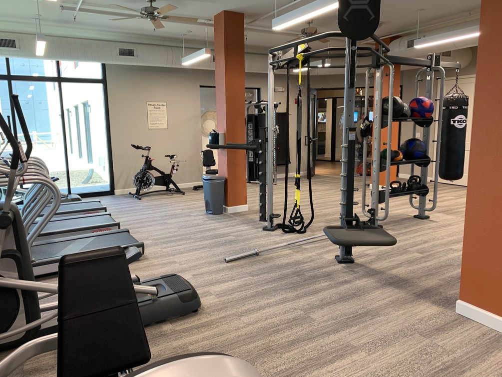 Gym at Watermark at Chesterfield Village Apartments