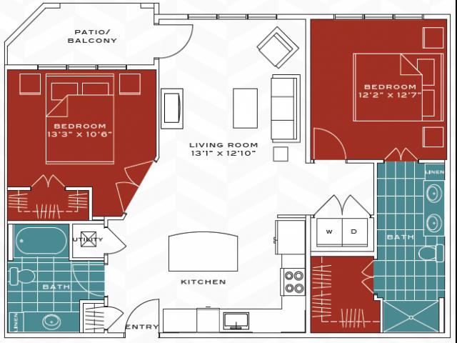 Floor plan 2 at Vanguard Heights Apartments