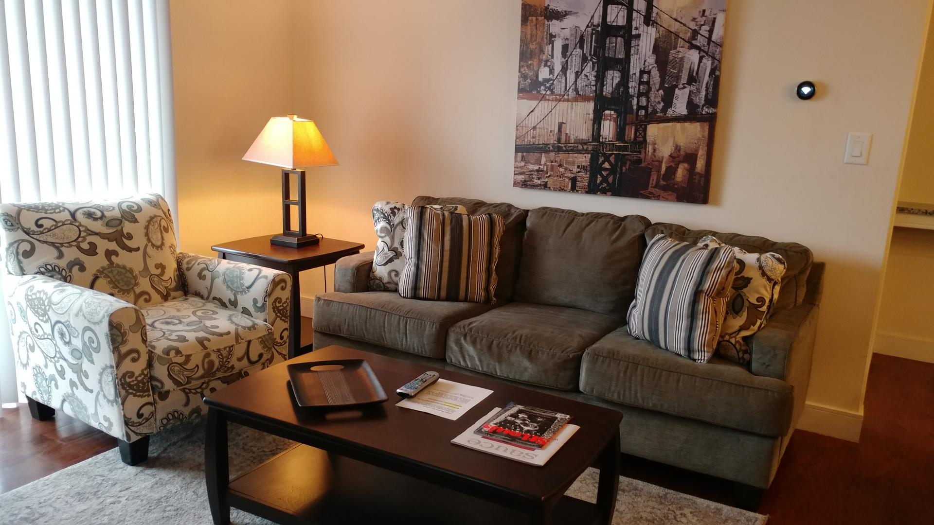 Living room at Vanguard Heights Apartments