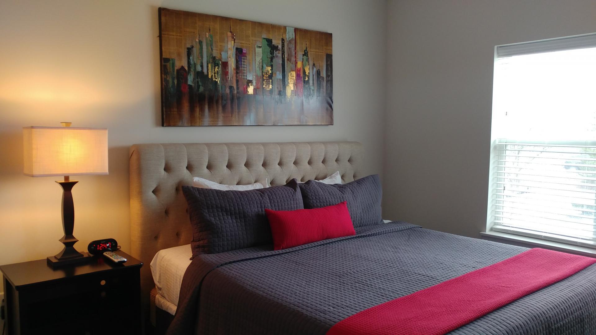 Bedroom at Vanguard Heights Apartments