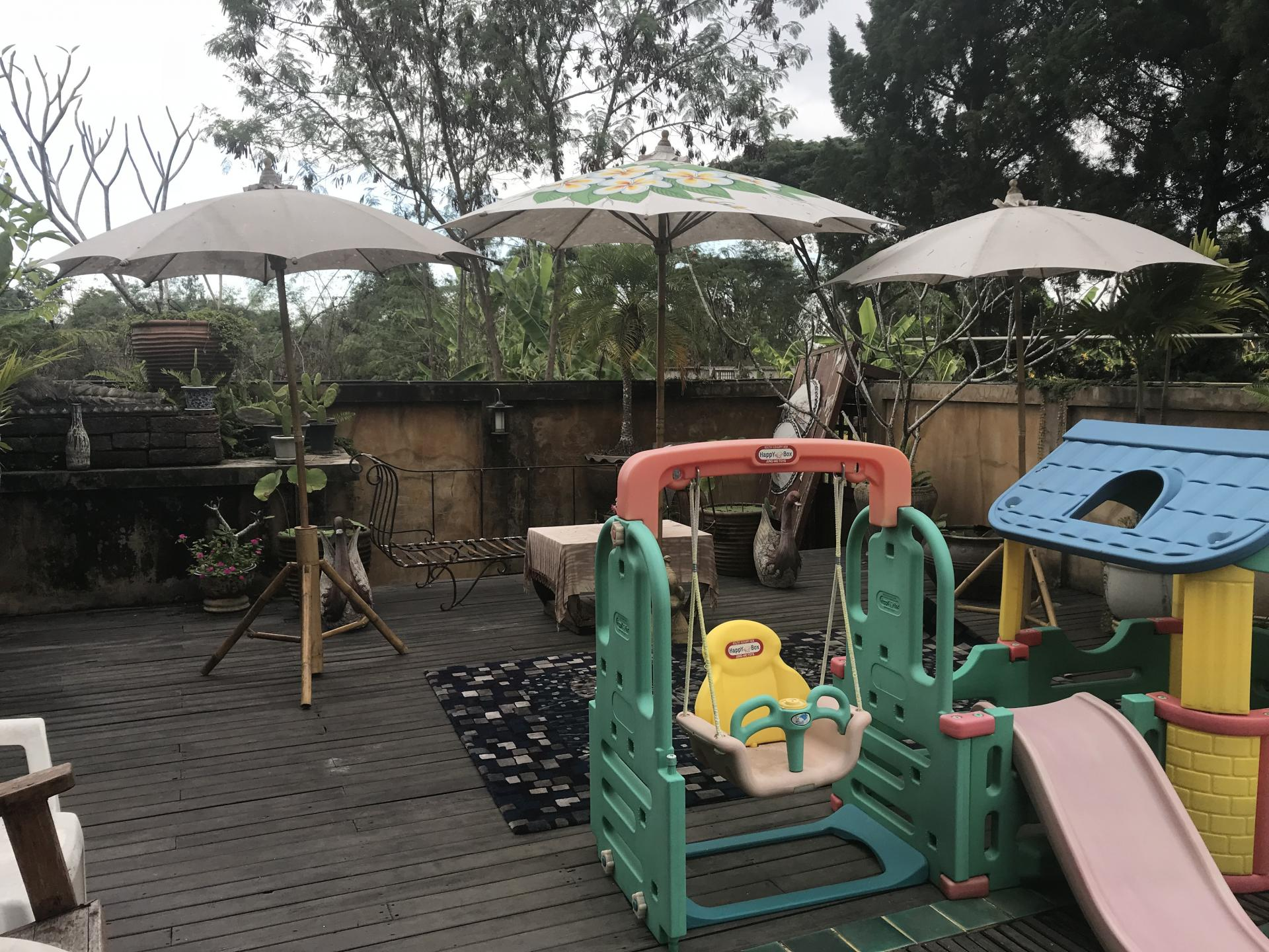 Decking at Bosang Villa, San Kamphaeng, Chiang Mai
