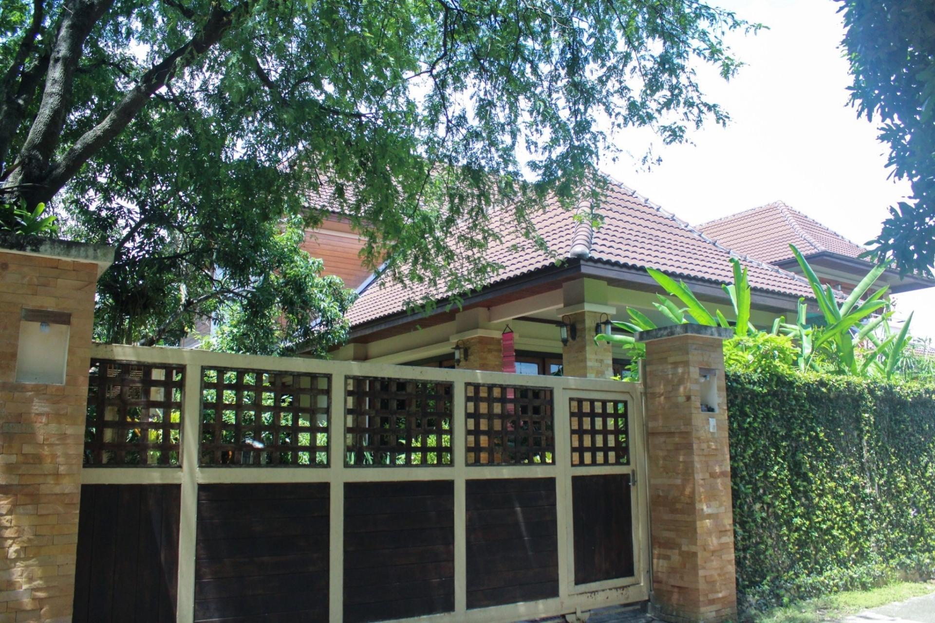 Electric Gate at Bosang Villa, San Kamphaeng, Chiang Mai