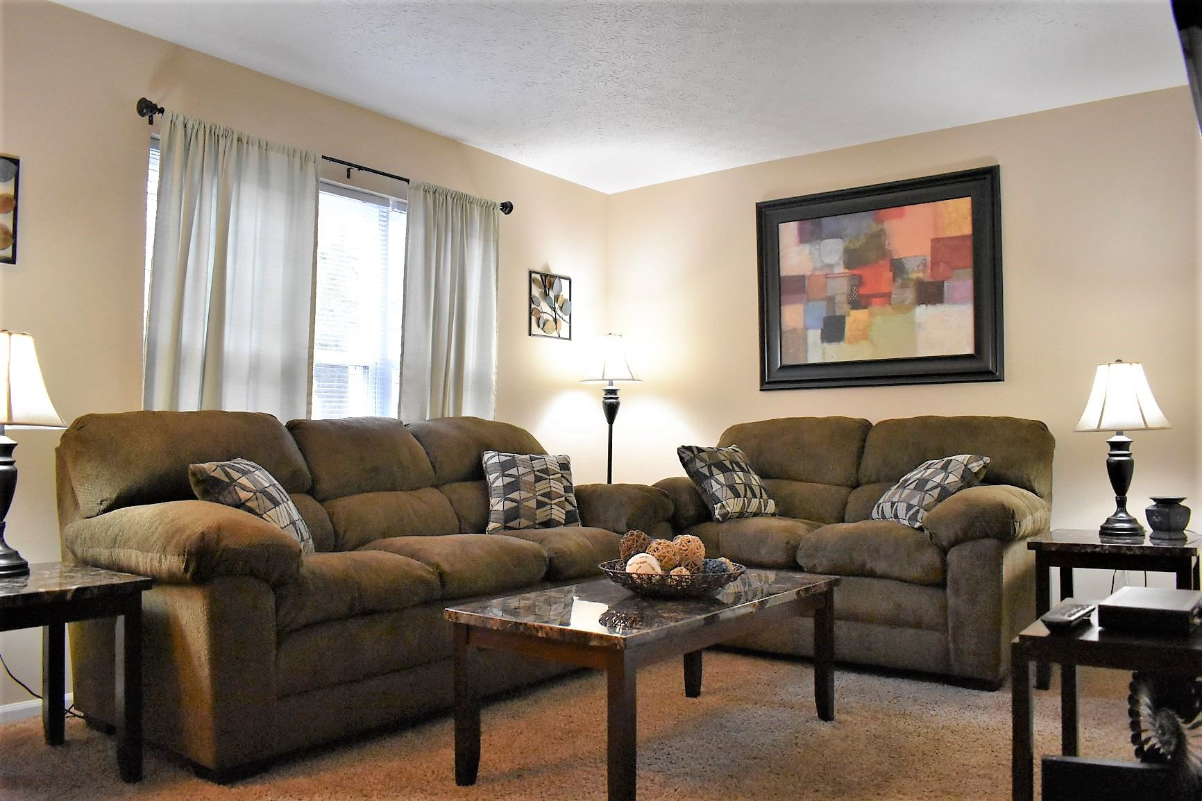 Living Room at McMillen Wood Apartment