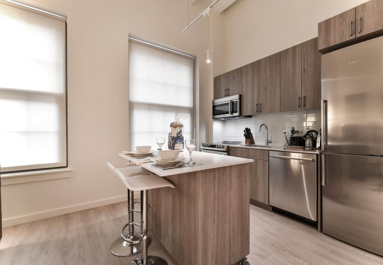 Kitchen at 8 Harrison Apartments, Centre, Boston