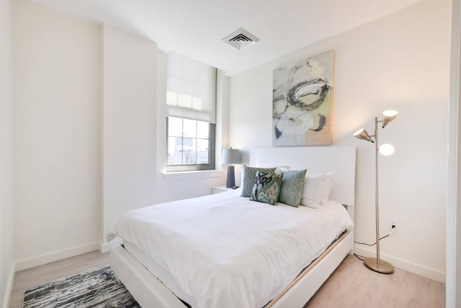 Bedroom at 8 Harrison Apartments, Centre, Boston