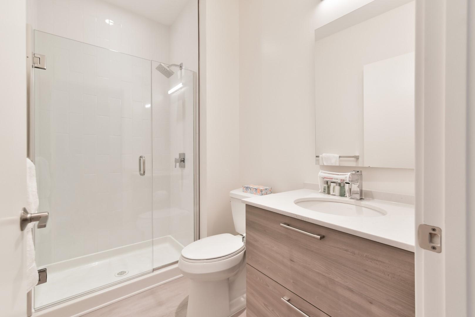 Bathroom at 8 Harrison Apartments, Centre, Boston