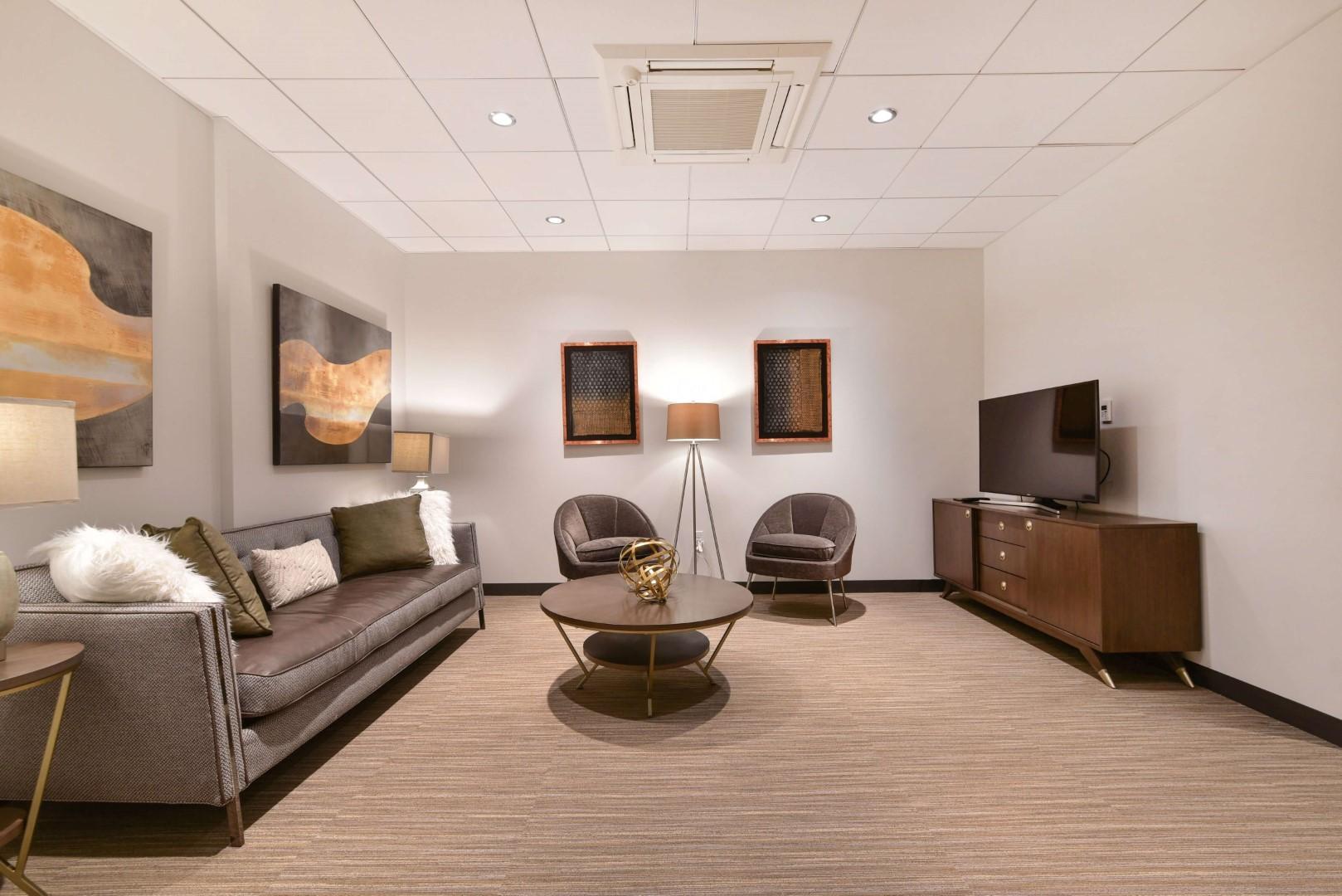 Sofa at 8 Harrison Apartments, Centre, Boston