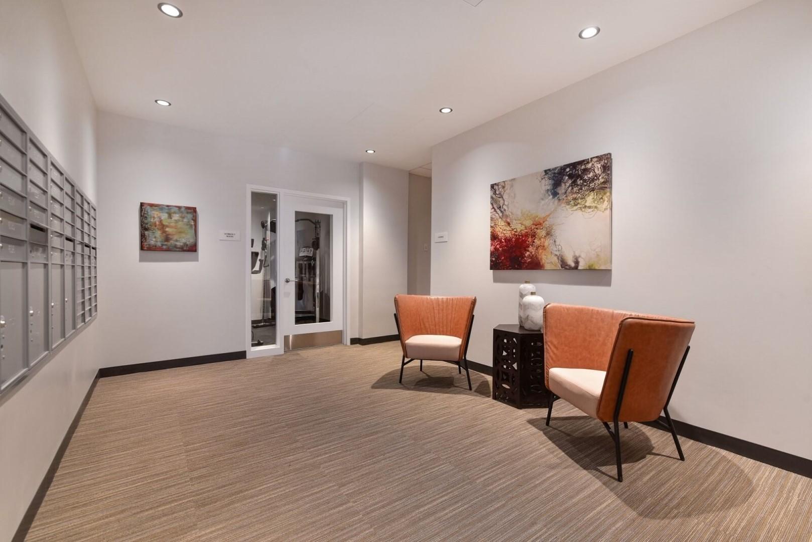 Lobby at 8 Harrison Apartments, Centre, Boston