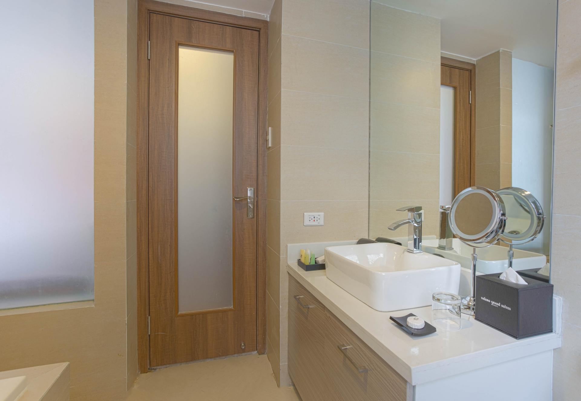 Bathroom at Valero Grand Suites
