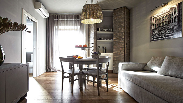 Dining area at Suites Serviced Apartments