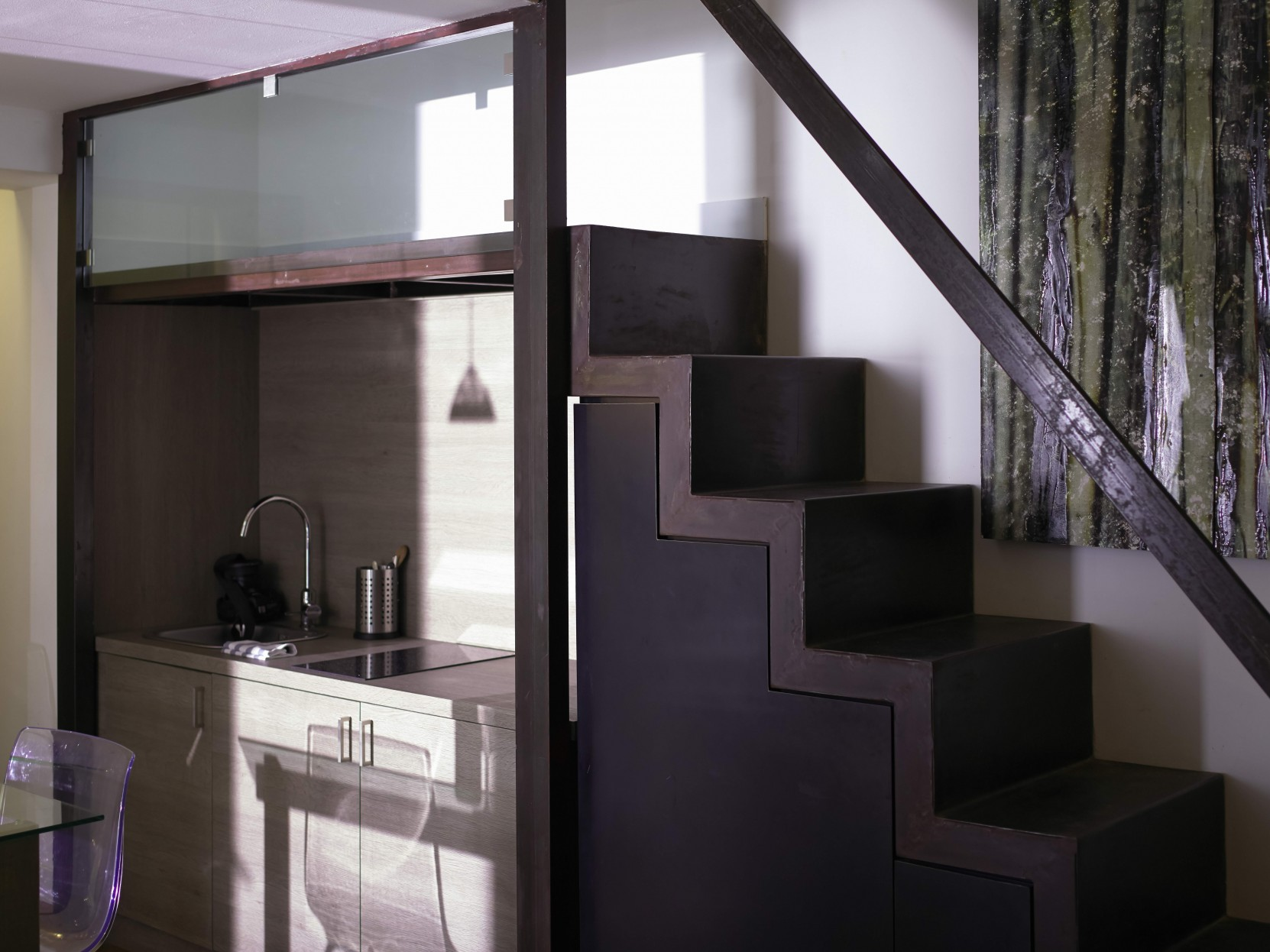 Kitchen space at Piazzo Trento Apartments
