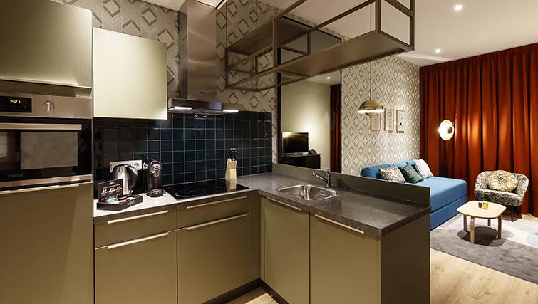 Kitchen at Citadines Sloterdijk Station Apartments, Amsterdam
