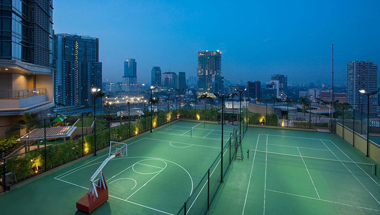 Tennis  court at Ascott Kuningan Jakarta Apartment