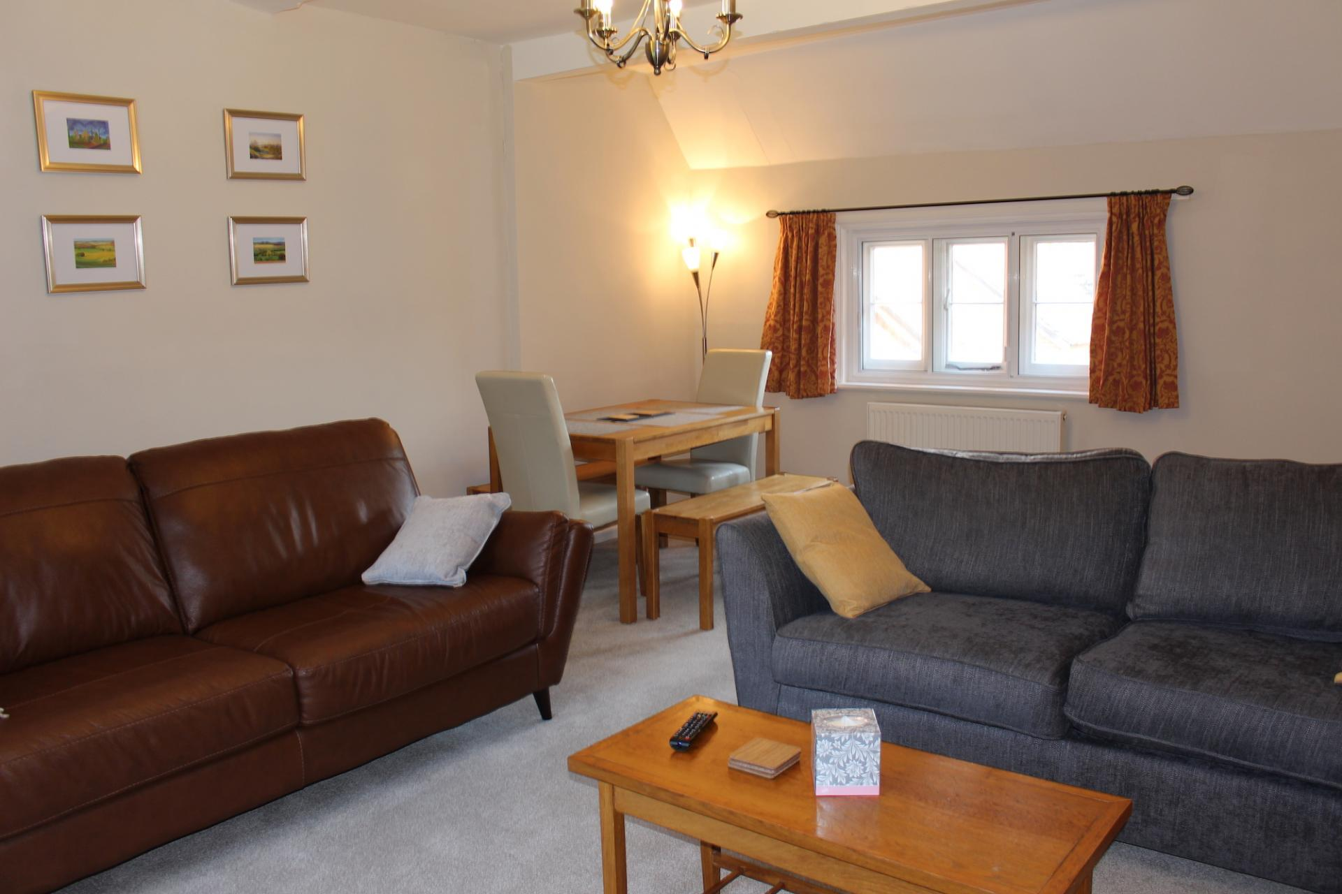 Living area at Chilton Serviced Apartments