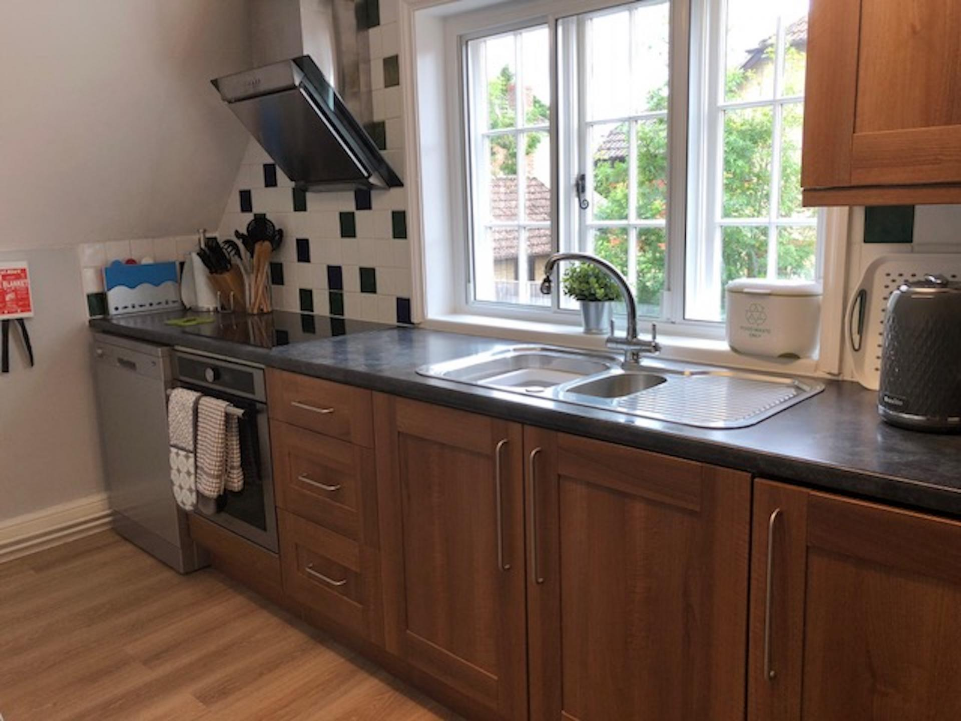 Kitchen at Chilton Serviced Apartments
