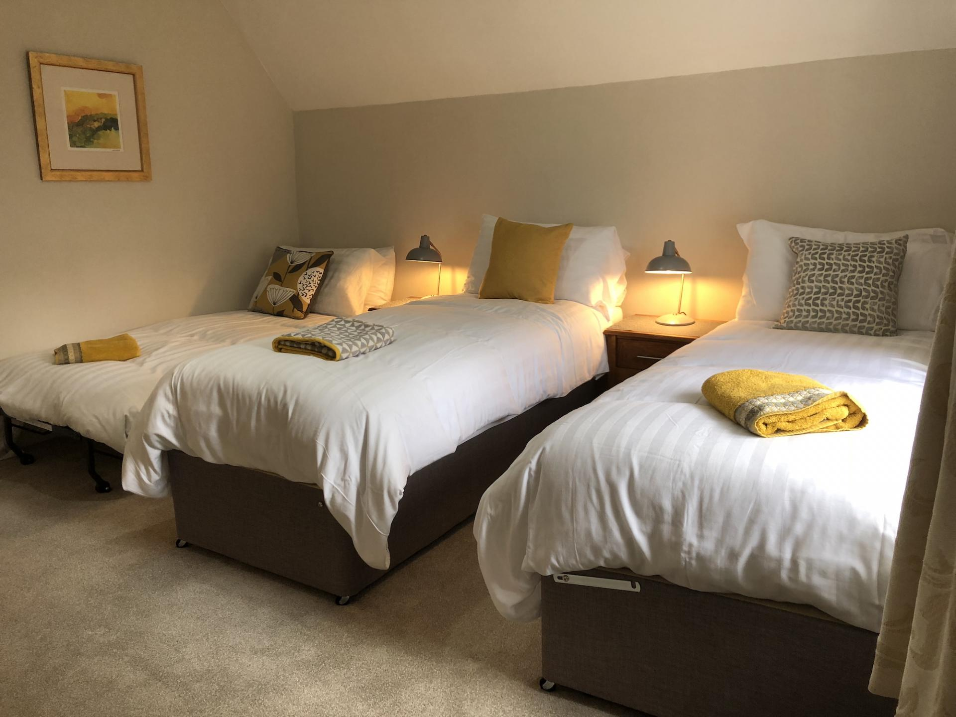 Pull out bed at Chilton Serviced Apartments