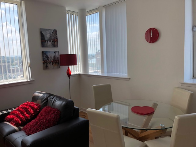 Dining table at Oswald Street Serviced Apartments