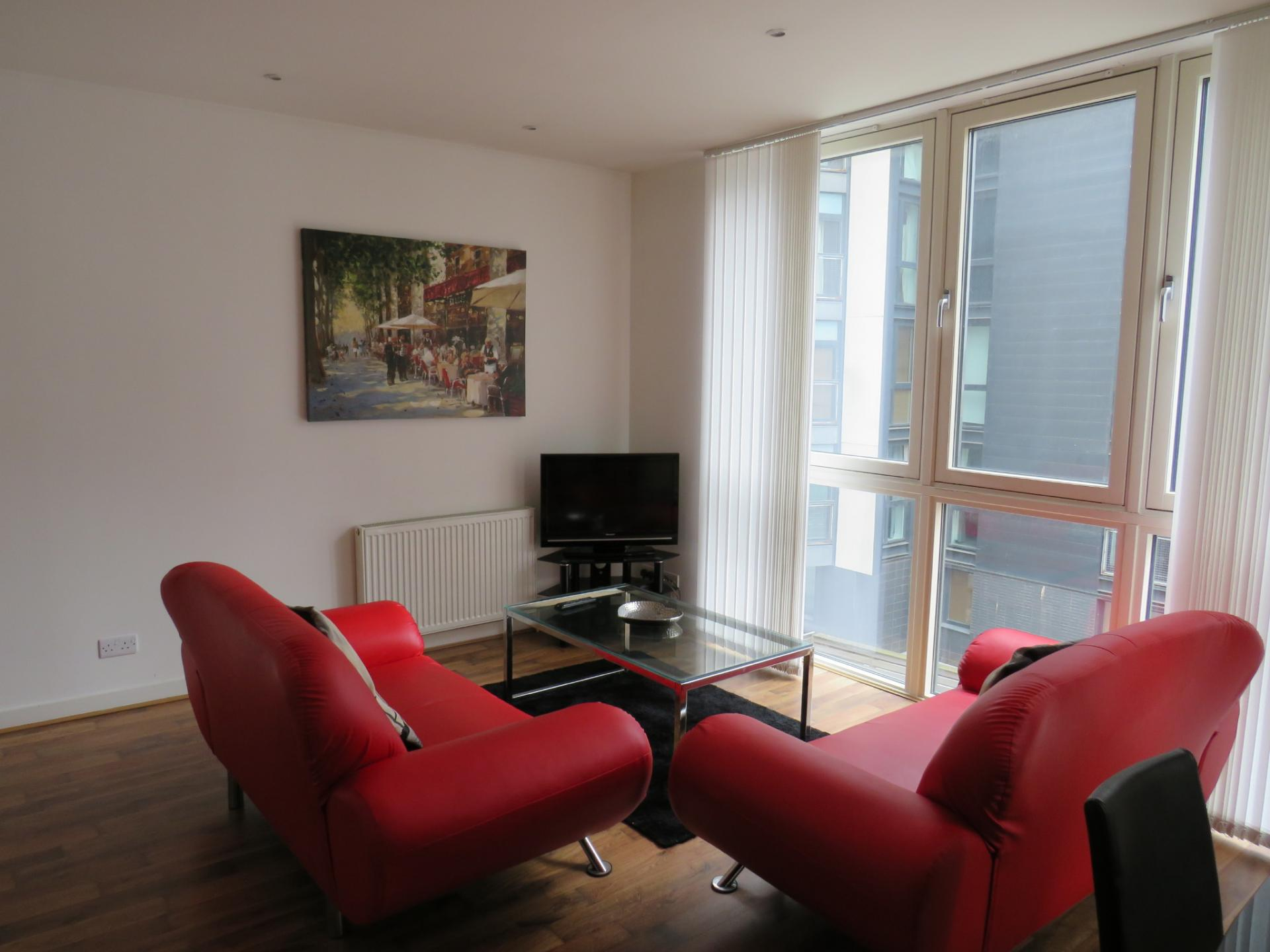 Lounge at Oswald Street Serviced Apartments