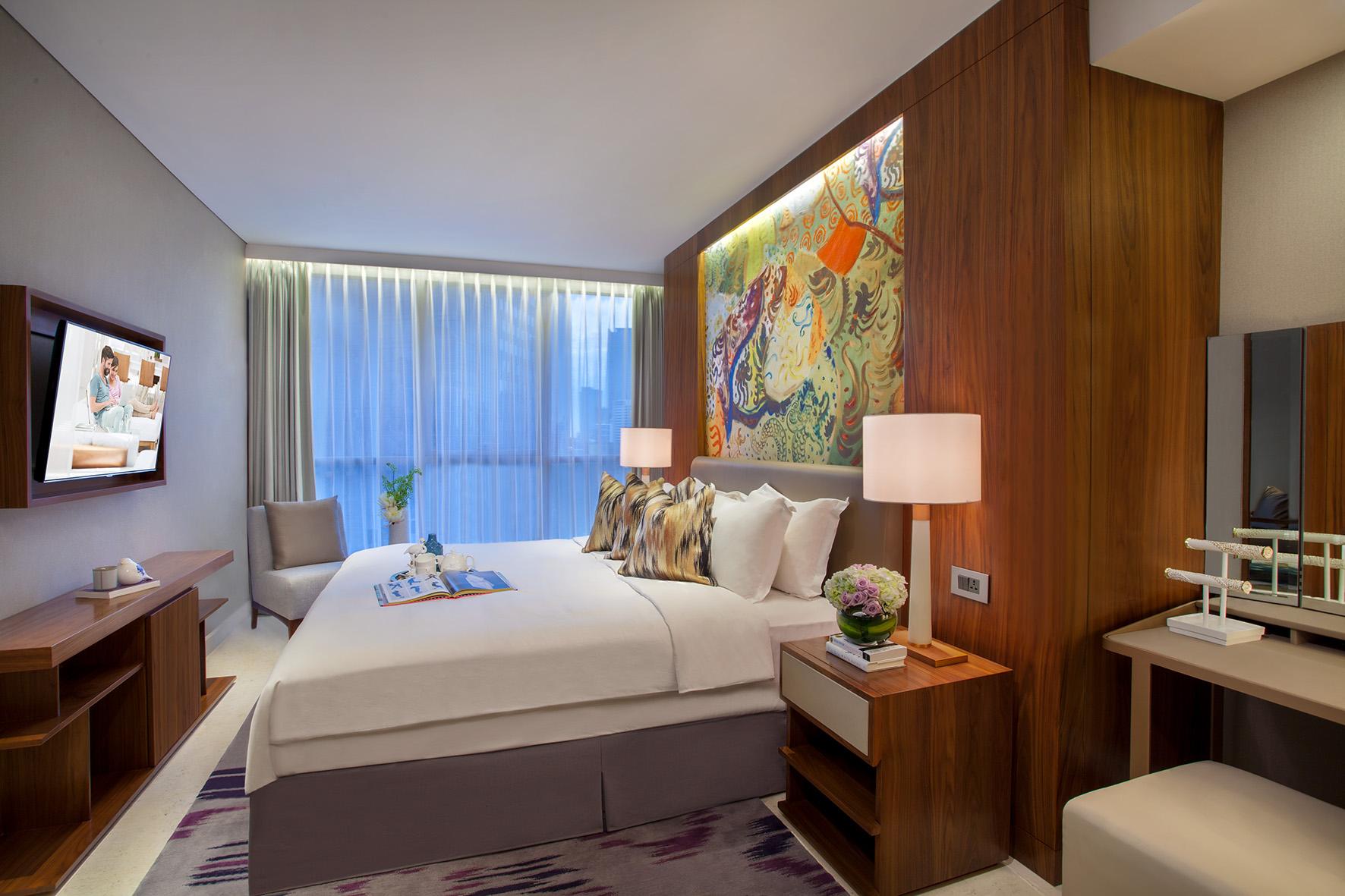 Bedroom at Ascott Sudirman Jakarta Apartments
