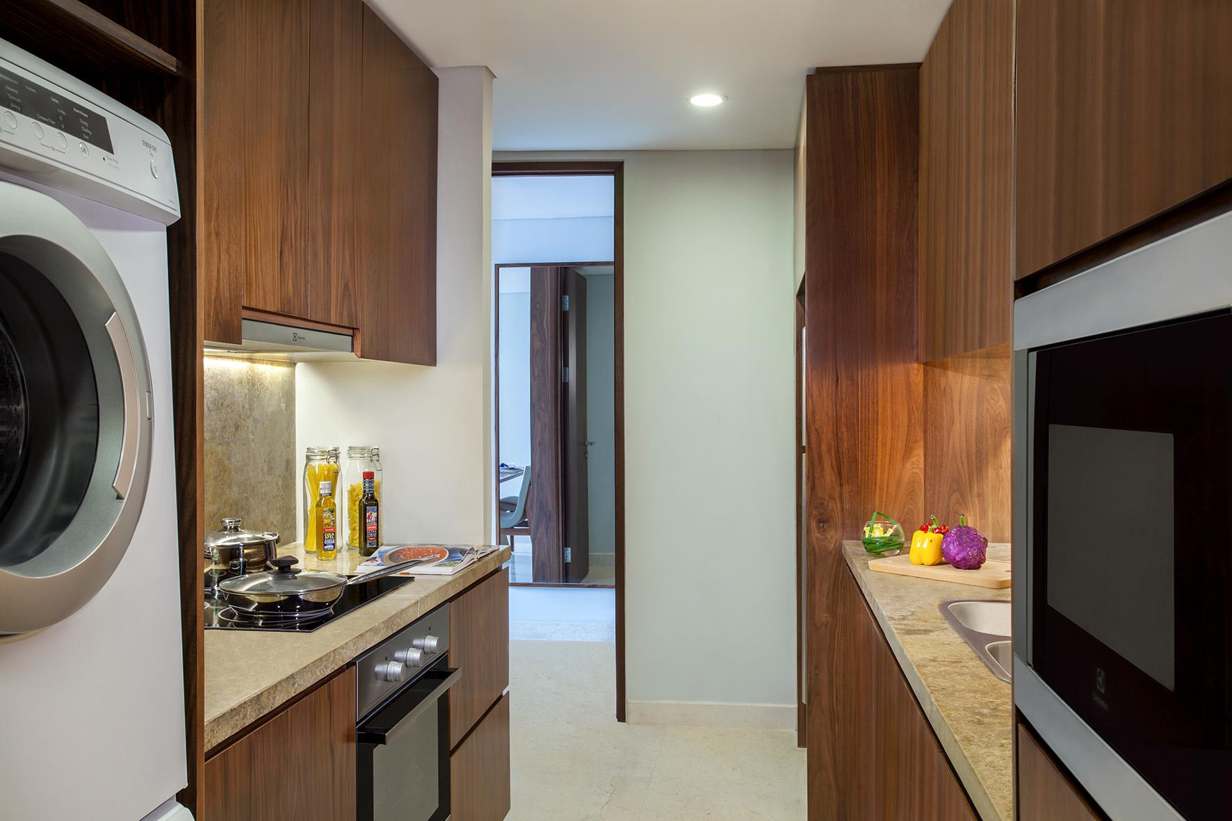 Kitchen at Ascott Sudirman Jakarta Apartments