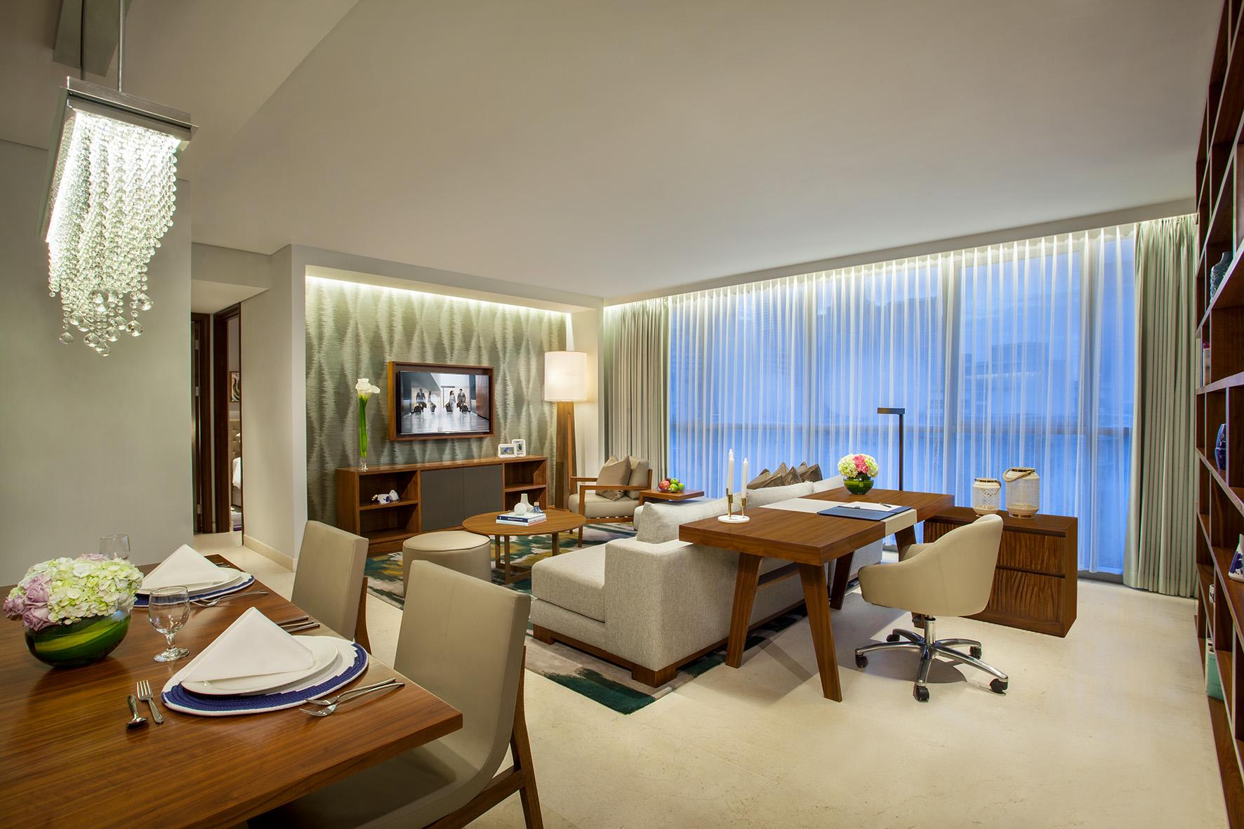 Living area at Ascott Sudirman Jakarta Apartments