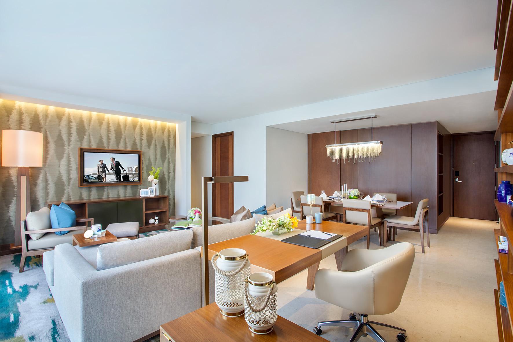 Lounge at Ascott Sudirman Jakarta Apartments