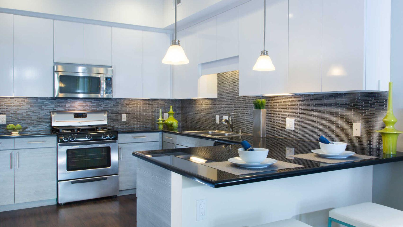 Kitchen at The Domain Apartments, Renaisance, San Jose
