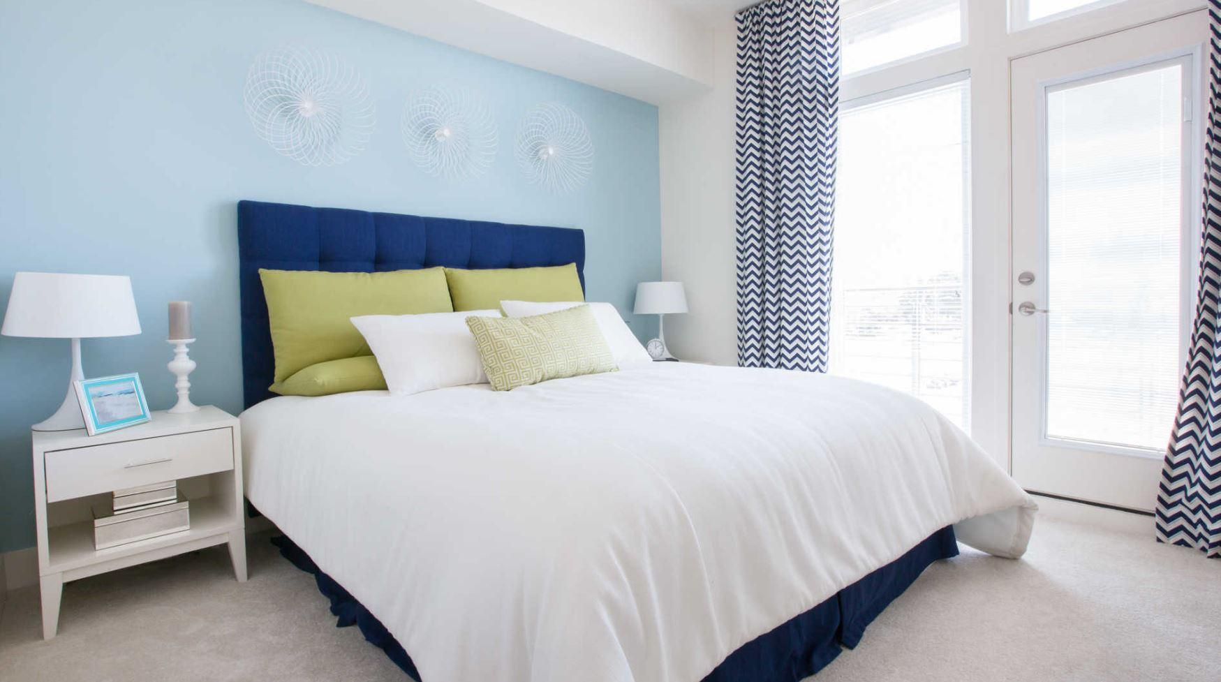 Bed at The Domain Apartments, Renaisance, San Jose