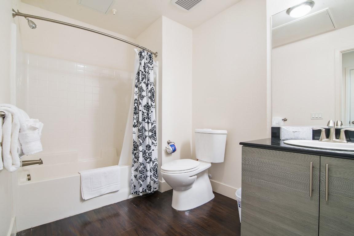 Bathroom at The Domain Apartments, Renaisance, San Jose