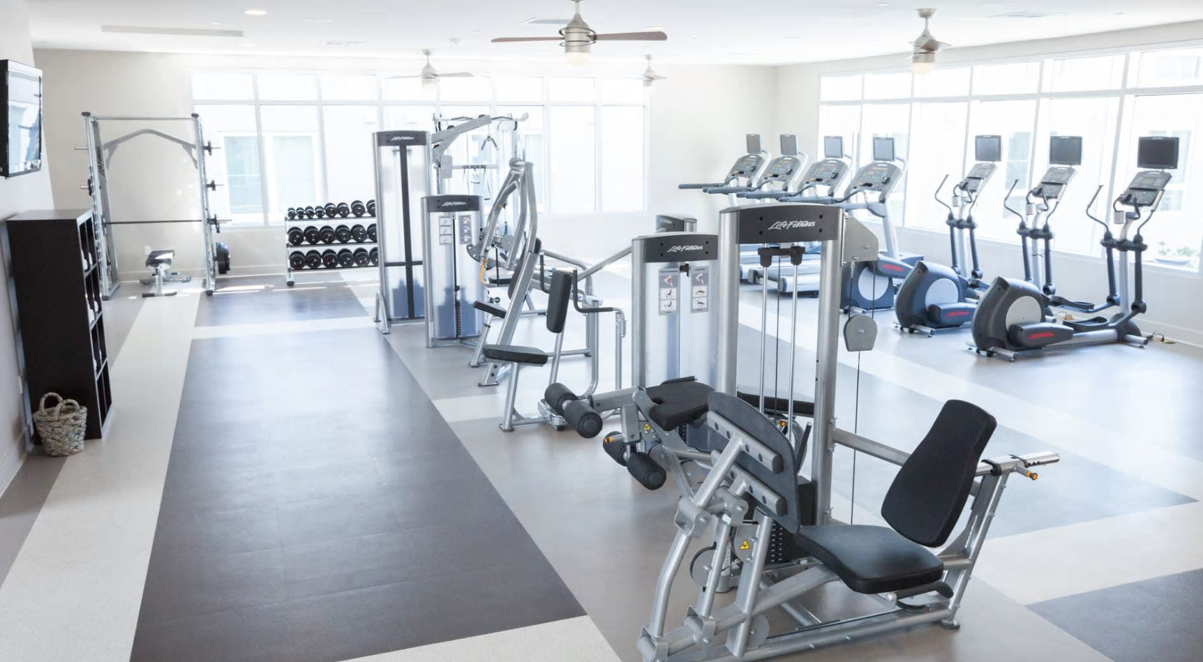 Gym at The Domain Apartments, Renaisance, San Jose