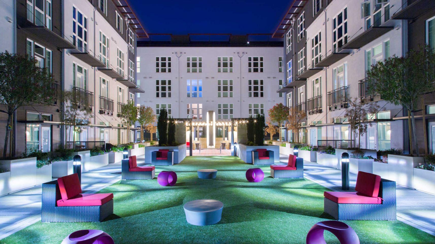 Ground at The Domain Apartments, Renaisance, San Jose