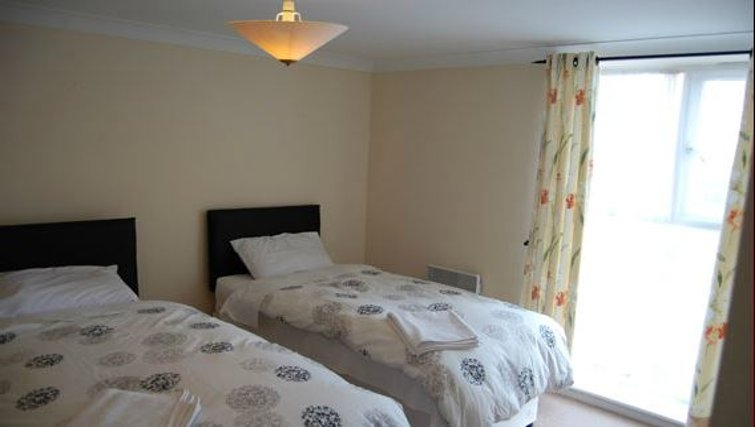 Comfortable bedroom in Lee Heights Apartments
