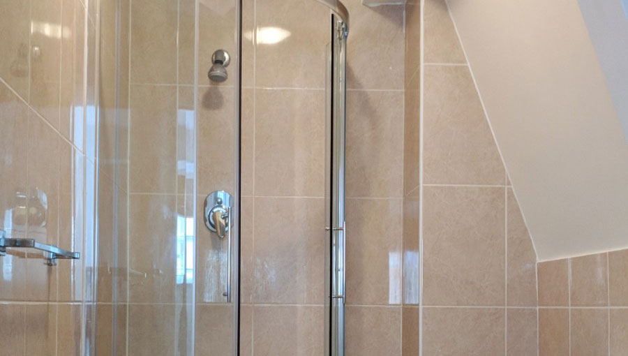 Shower at Ringers Road Apartment