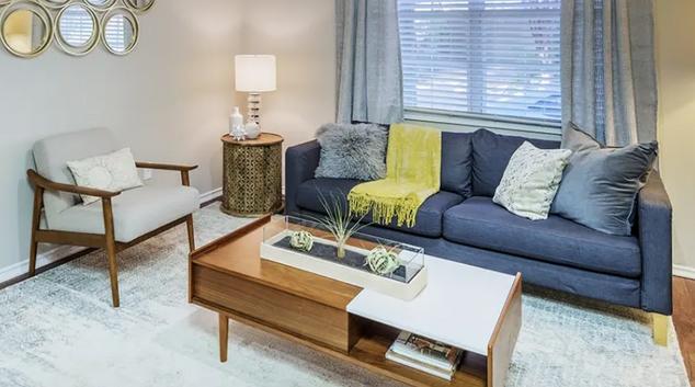Living Room at Post Uptown Village