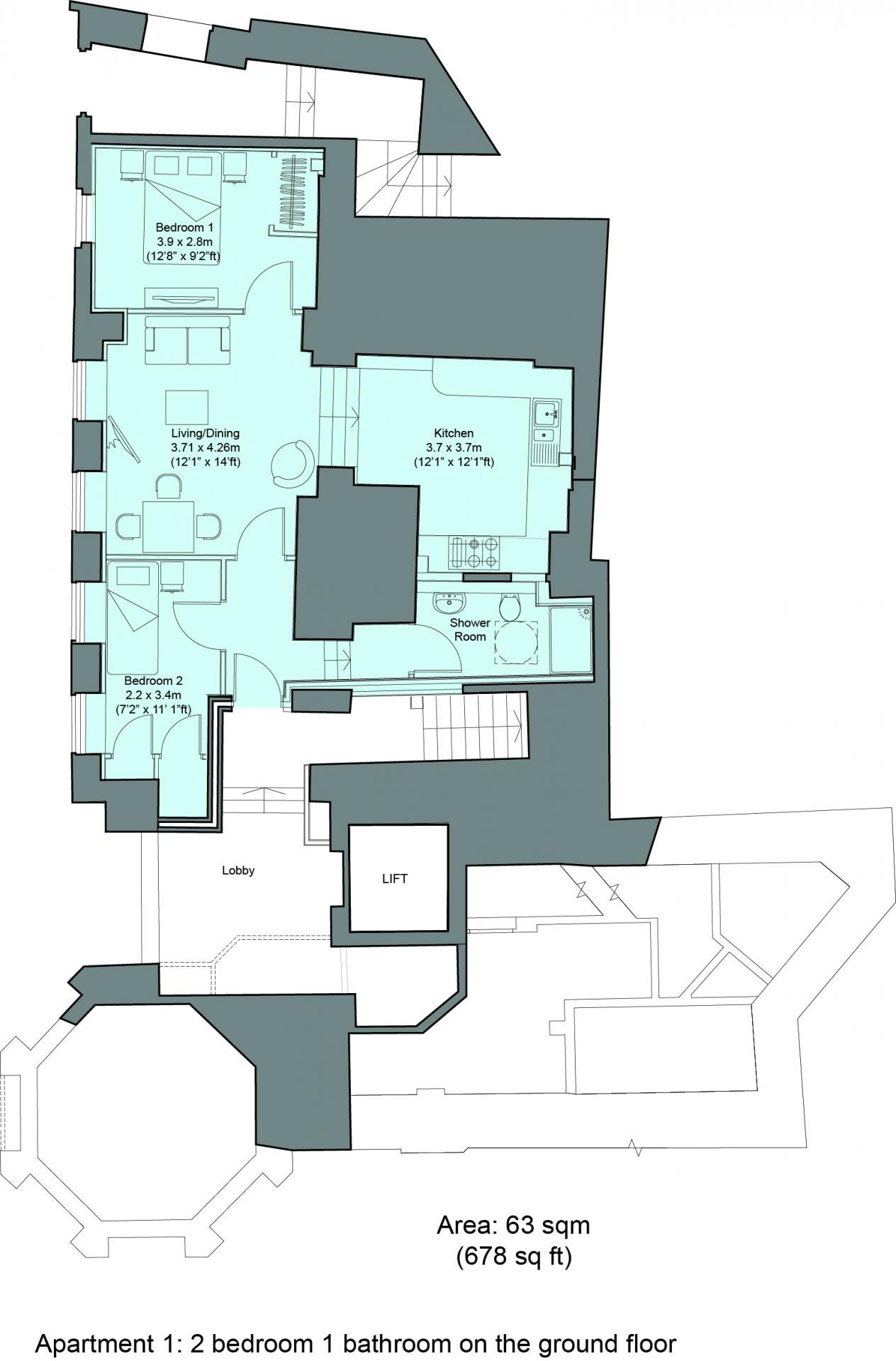 Floorplan 1 at Cavendish House