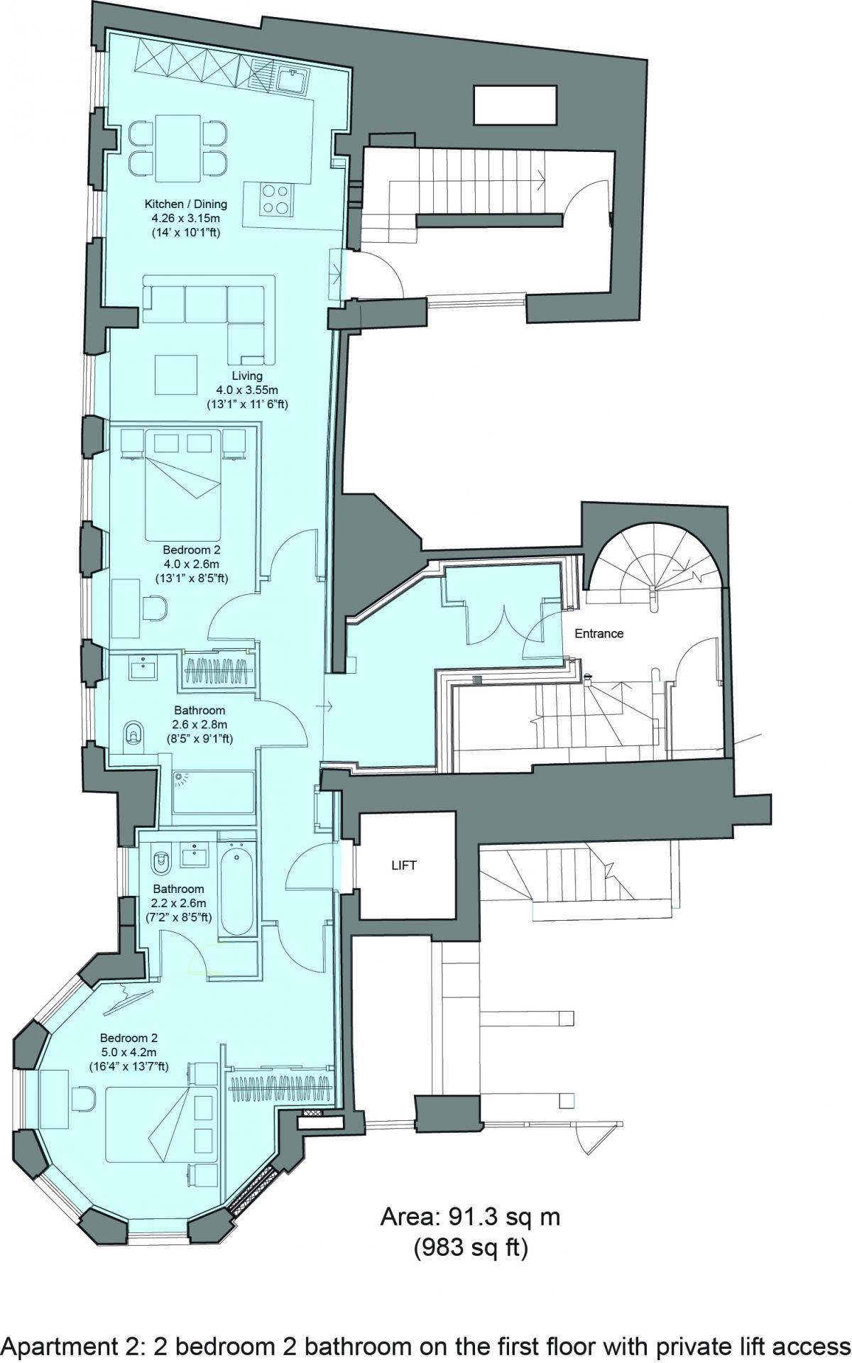 Floorplan 2 at Cavendish House