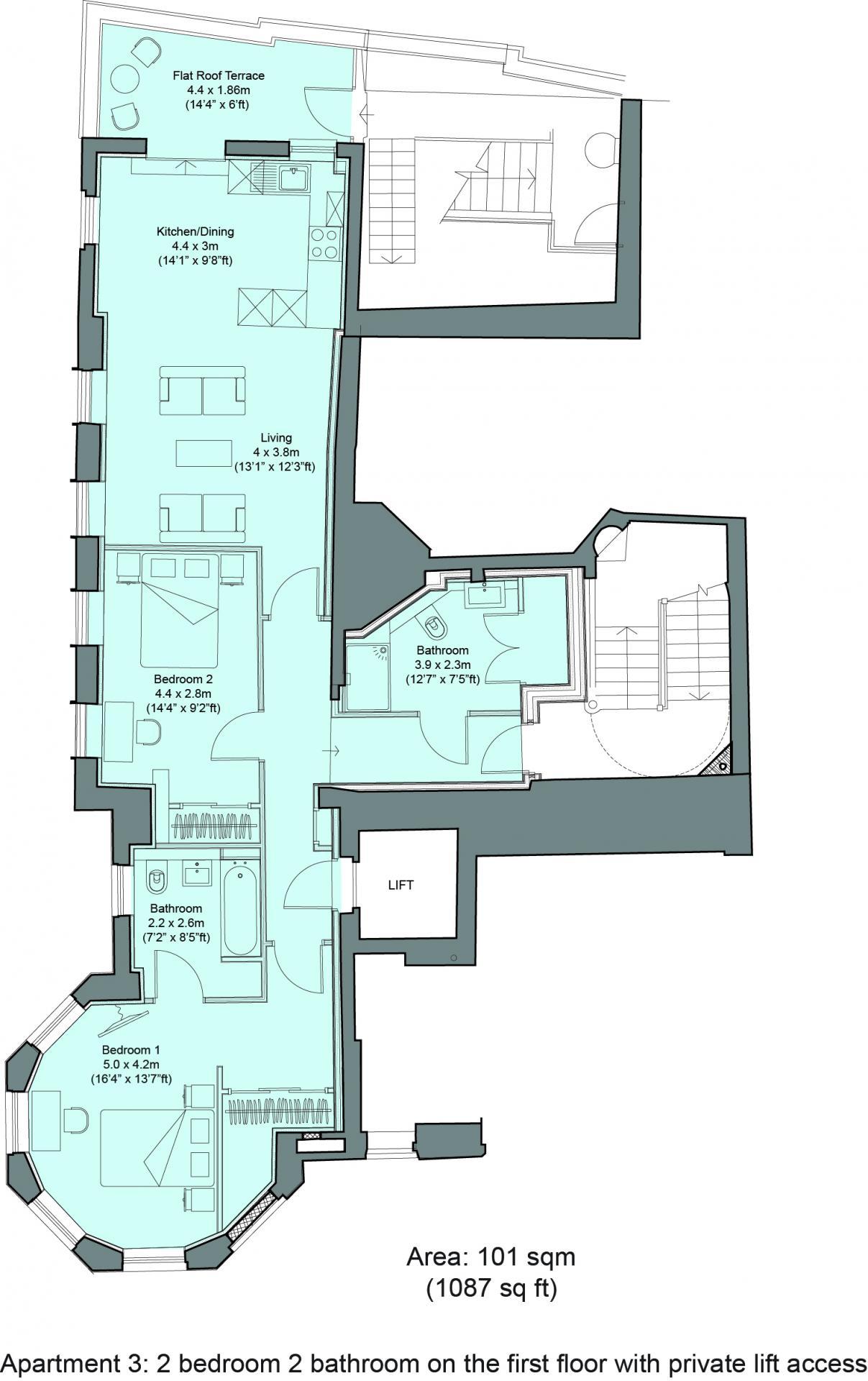 Floorplan 3 at Cavendish House