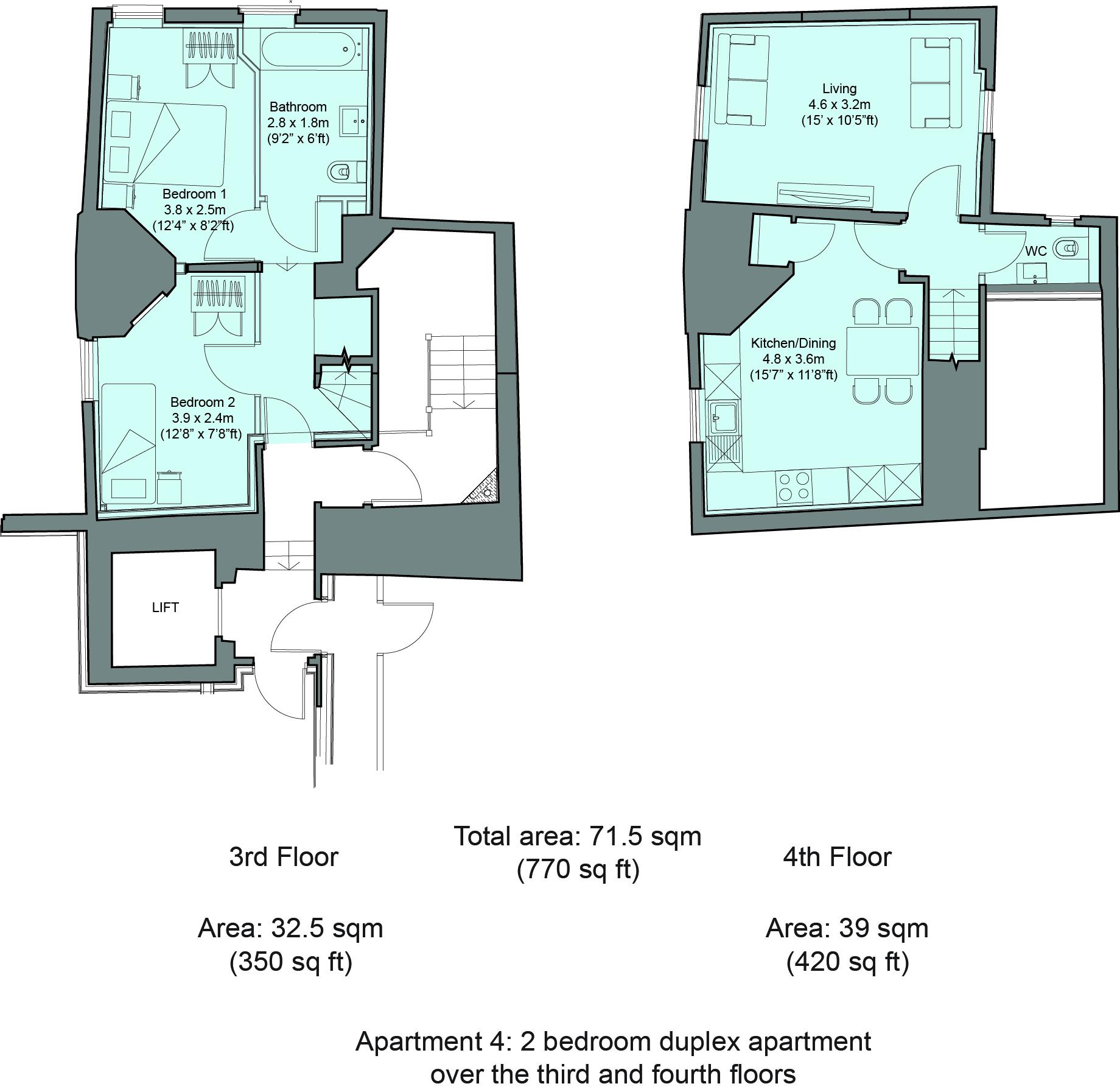 Floorplan 4 at Cavendish House