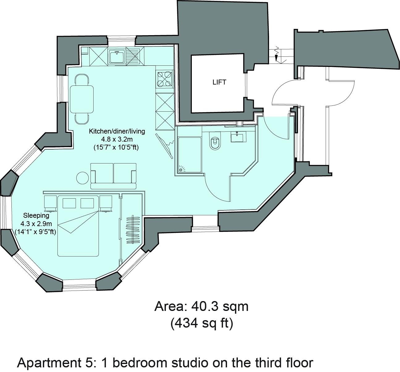 Floorplan 5 at Cavendish House