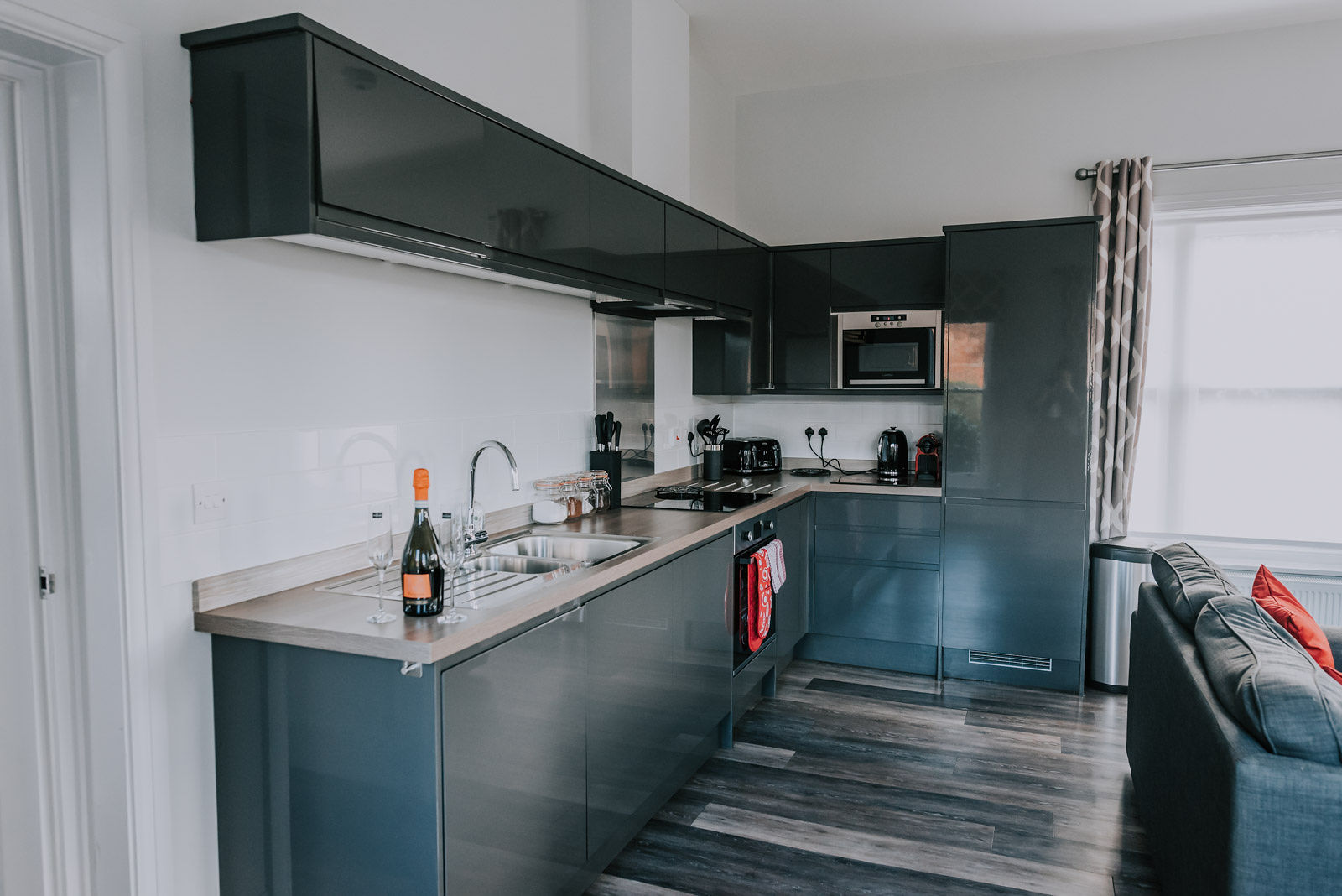 Modern kitchen at Cavendish House