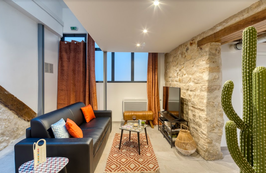 Sofa at Gravilliers Apartment