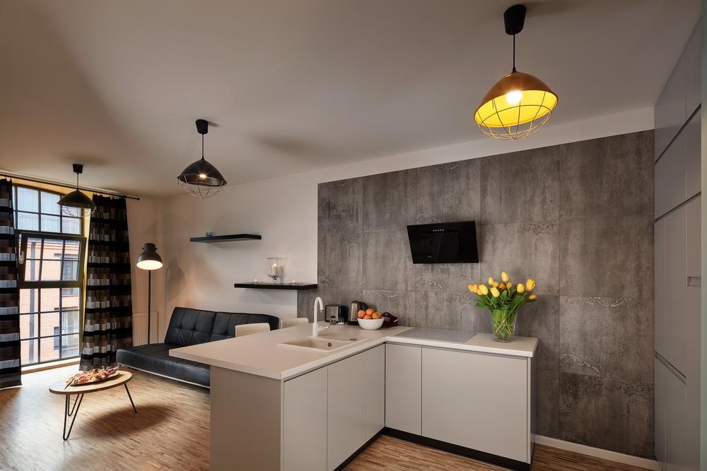 Kitchen facilities at Tymienieckiego Apartments