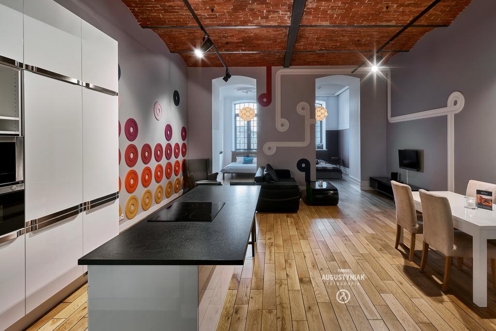 Kitchen area at Tymienieckiego Apartments