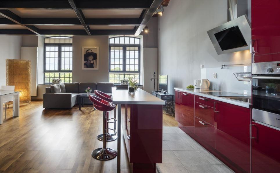 Modern kitchen at Tymienieckiego Apartments, Centre, Lodz