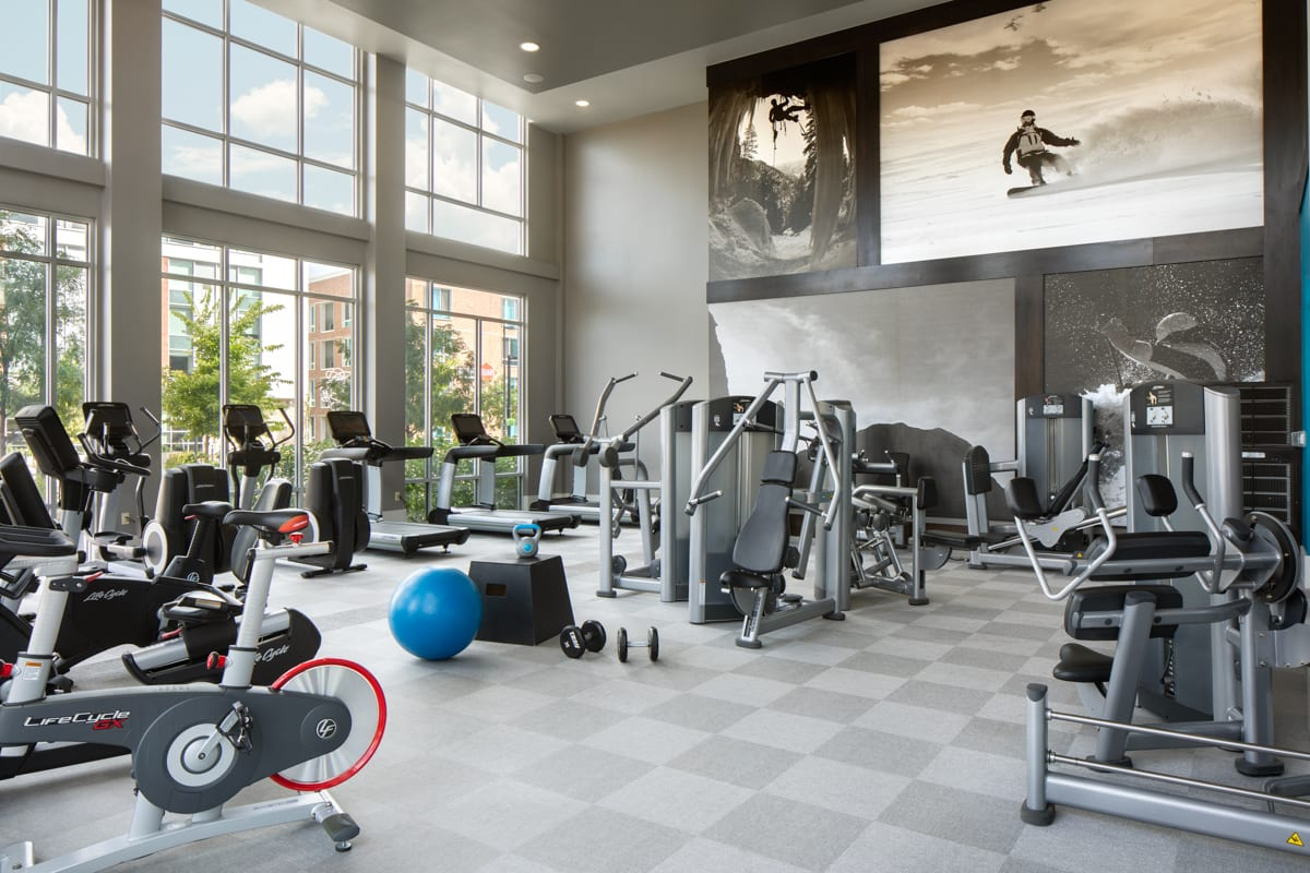 Gym at Griffis 3100 Pearl Apartment