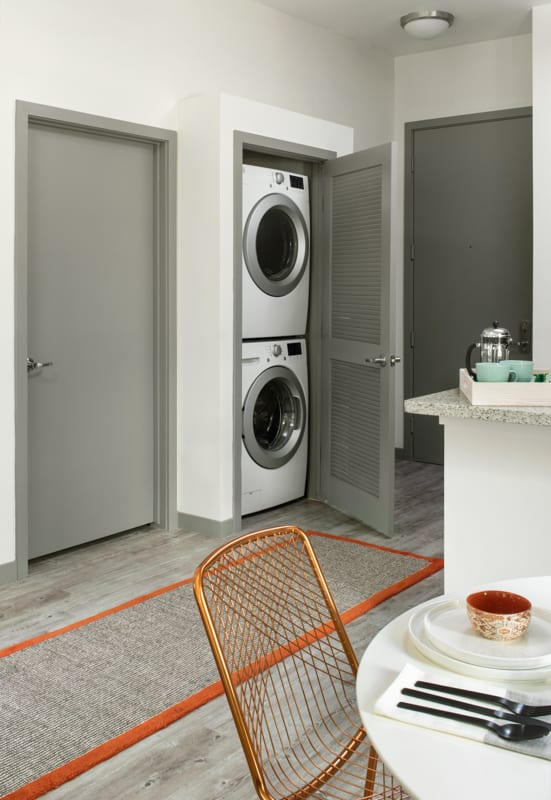 Laundry facilities at Griffis 3100 Pearl Apartment