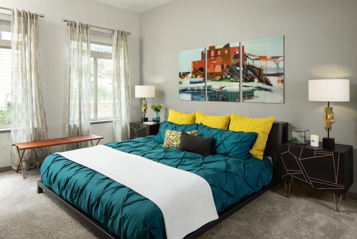 Bedroom at Griffis 3100 Pearl Apartment