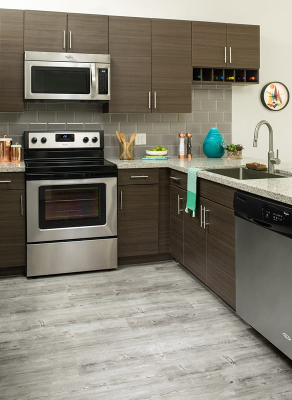 Kitchen at Griffis 3100 Pearl Apartment
