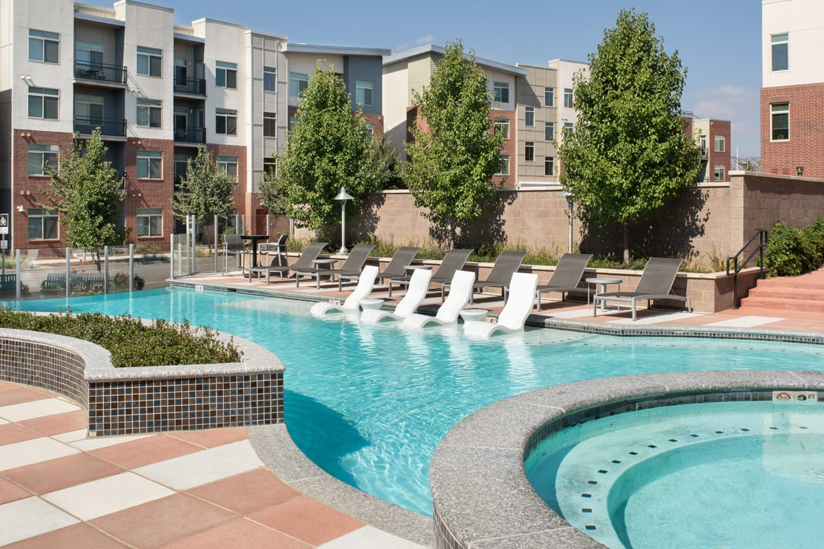Pool at Griffis 3100 Pearl Apartment
